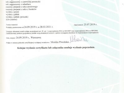 CERTYFIKAT BIO str. 2